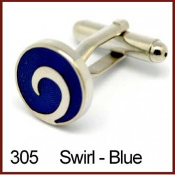 Swirl - Blue Cufflinks