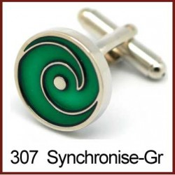 Synchronise - Green Cufflinks