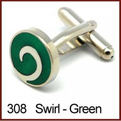 Swirl - Green Cufflinks