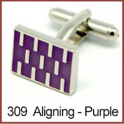 Aligning - Purple Cufflinks