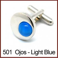 Ojos - Light Blue Cufflinks