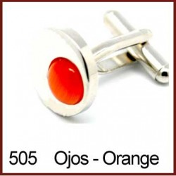 Ojos - Orange Cufflinks