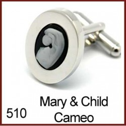 Mary & Child Cameo Cufflinks