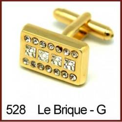 Le Brique - Gold Cufflinks