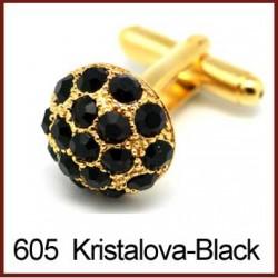 Kristalova - Black Cufflinks