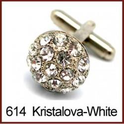 Kristalova - White Cufflinks