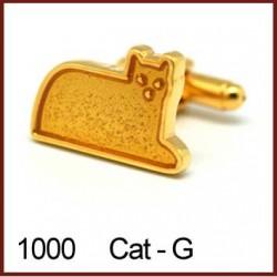 Cat - Gold Novelty Cufflinks