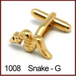 Snake - Gold Novelty Cufflinks