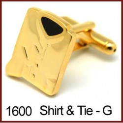 Shirt & Tie - Gold Novelty...