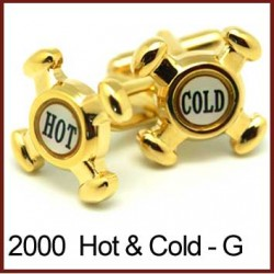 Hot Cold Tap Heads - Gold...