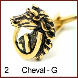 Cheval - Gold Cufflinks