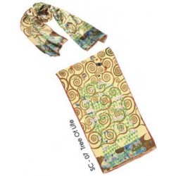 KLIMT Silk Scarf - Tree of...