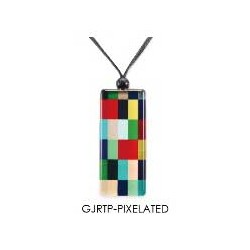 Rect. Pendant - Pixelated