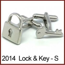 Lock & Key - Silver Novelty...