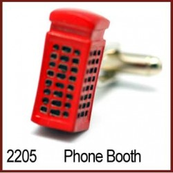 Phone Booth Novelty Cufflinks