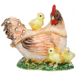 Hen Family Trinket Box