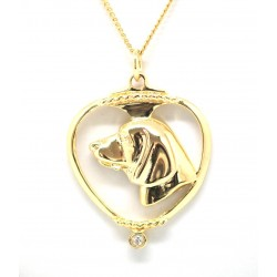 Beagle Pendant-Gold