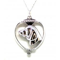Beagle Pendant-Silver