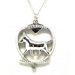 Bull Terrier Pendant-Silver