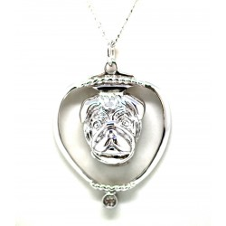 Pug Pendant-Silver