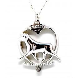 Rottweiler Pendant-Silver