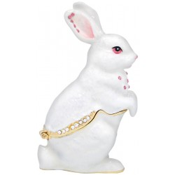 Rabbit-White Trinket  Box